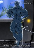 Buff, naked Liara T'soni PROMO by LordDaroth