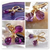 Amethyst and 14K Gold Filled by Arctida