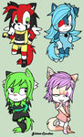 CM .: 4 Itty Bitty Chibies :. by Glitter-Candies