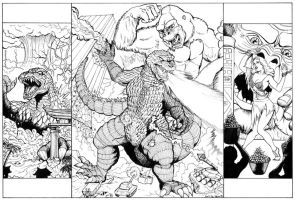 King Kong VS Godzilla - lines by DocRedfield