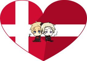Light and Darkness (Denmark) Shimeji Heart by LadyAxis