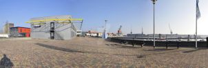 Panorama Delfzijl Harbour by NightstreetDreamer