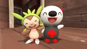 Oliver and Chespin by yoshi12345786
