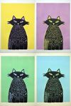 Cats Rule Color Lino Prints by Stardust-Splendor