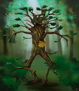 Tree creature by sophie-sz