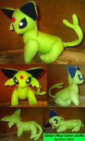 Jointed Shiny Espeon plushie by Neon-Juma