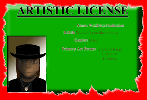 Artistic License by WolfDeityProductions