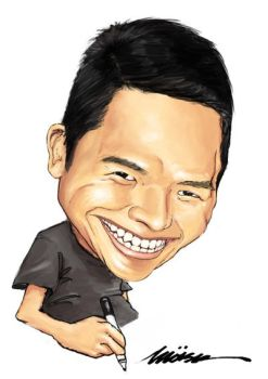Self Caricature by Moisk