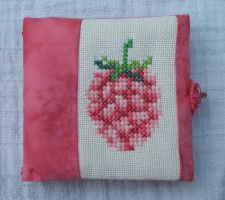 Raspberry needle case by Magical525
