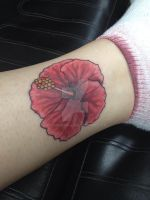 Hibiscus Tattoo by KMKramer44
