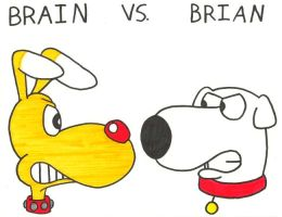 Brain vs. Brian by BrianGriffinFan
