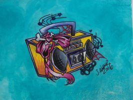 boom box by Pistol-Whipped-Sar
