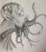 Tentacle Mouth Zombie Finished by XKiwiiKillerX