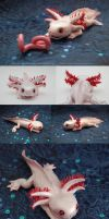 Clay Axolotl by theperfectlestat