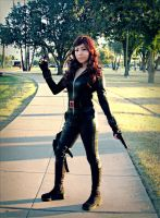 Black Widow cosplay from Iron Man 2 by Oniakako