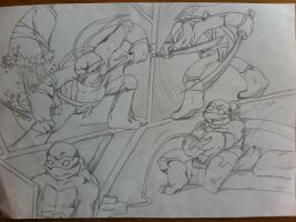 TMNT_SKETCH by FleshCreature