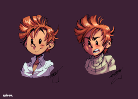 Spirou coloured by Hennei