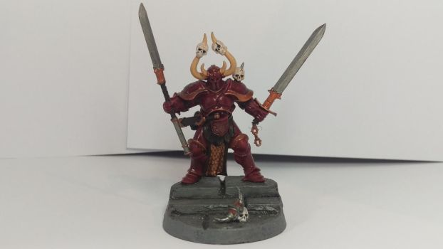 Khorne Chaos Lord by worvach