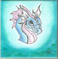 Water Dragon - Ceramic Tile by blythedragon