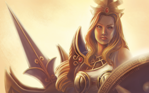 Athena - SMITE fanart by aasterath