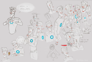 Portal 2 - Wheatley Doodles by SuperKusoKao