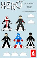 HERO: Paper Dolls by SirGryphon