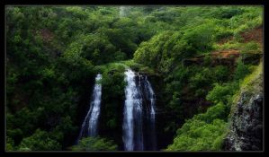 Kauai Waterfall by black-heroin