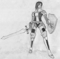 Female Warrior by Red-Berzerker
