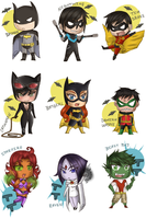 Batverse and Titans by Nana-boo