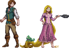 Tangled Sprites by KingdomTriforce