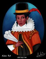 Pocahontas as an English woman by Kevsoraone