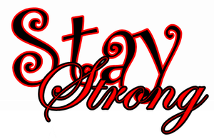 Stay Strong texto png by MartinaHoySomosMas