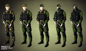 Conscript Soldiers Progress Art by unI3ind