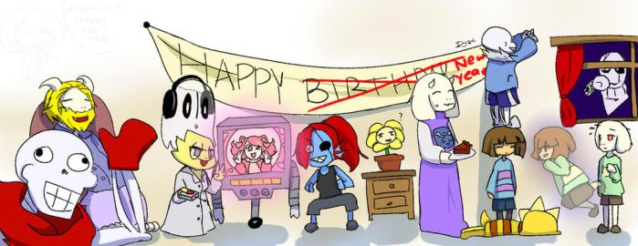 Undertale - happy new year! by AremiAltaria-san