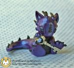 Purple Dragon with Key by whitemilkcarton
