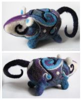 Deco Felted Rat by Si3art