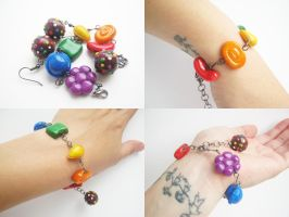 Candy Crush Saga bracelet by GemDeDude