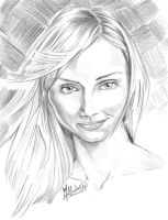 Cameron Diaz_portrait by atzalan