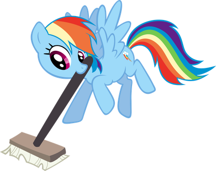 Rainbow Dash with Curling Broom by Knight725