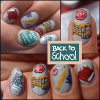 back to school nails by Ninails