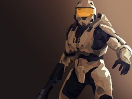 Master Chief Vector by Synthasion