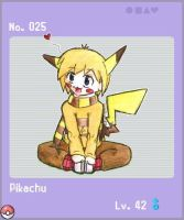 PKMN Gijinka - Pikachu by BobOfMassDistraction