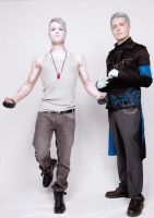 DMC Cosplay : Dante (Trigger Version) and Vergil by LeonChiroCosplayArt
