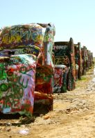 Cadillac Ranch - Amarillo, TX by whereYOUendd