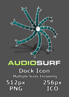 AudioSurf Dock Icon - no BG by lapinlunaire
