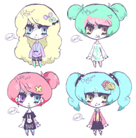 Pastel Goth Adopts (SOLD OUT) by kami-fu-buki