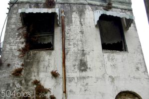 Ragged Drapes in Windows by GRhoades