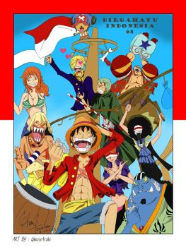 Strawhat Pirates on Independence Day by GhazieArsha