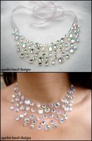 Crystal AB Illusion Necklace by Natalie526