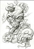 Snake and Skull by stephcand